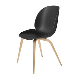gubi beetle dining chair conic wood unupholstered oak black main 1000