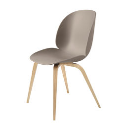 gubi beetle dining chair conic wood unupholstered oak new beige main 1000