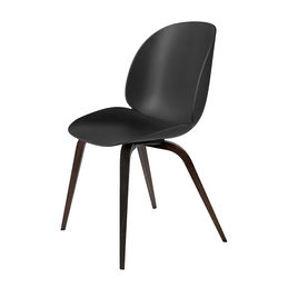 gubi beetle dining chair conic wood unupholstered smoked oak black main 1000