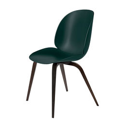 gubi beetle dining chair conic wood unupholstered smoked oak dark green main 1000