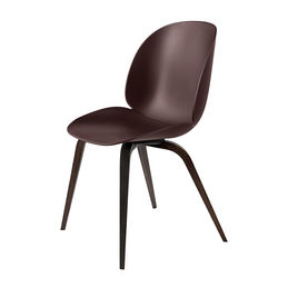 gubi beetle dining chair conic wood unupholstered smoked oak dark pink main 1000
