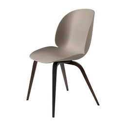 gubi beetle dining chair conic wood unupholstered smoked oak new beige main 1000