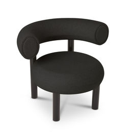 tom dixon fat lounge chair black angle 1000