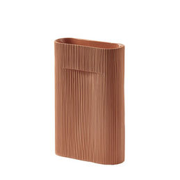 muuto ridge vase terracotta 35cm main 1000