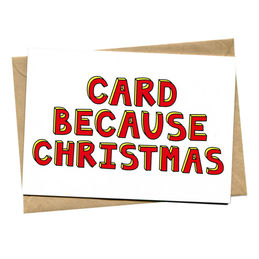 things by bean card because christmas christmas card  1000
