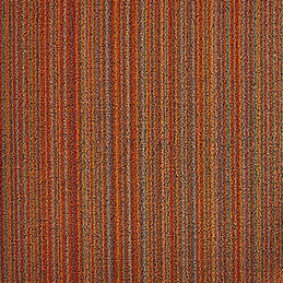 chilewich shag doormat skinny stripe orange detail 1000
