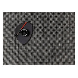 chilewich tablemat rectangle basketweave carbon 1000