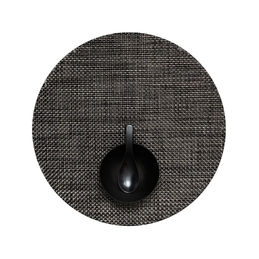 chilewich placemat basketweave round carbon 1000