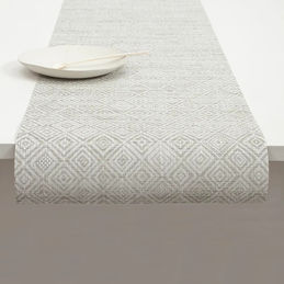 chilewich table runner mosaic grey 1000