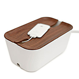 bosign cable manager hide-away walnut