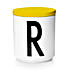 design letters r mug yellow lid 800