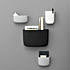nc pocket organizer black white grey 800