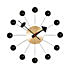 vitra george nelson ball clock brass black 800