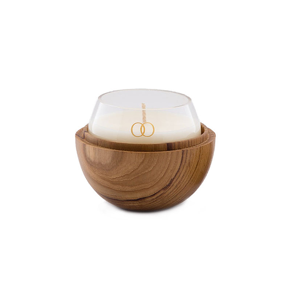 only orb natural teak clear glass individual 1000