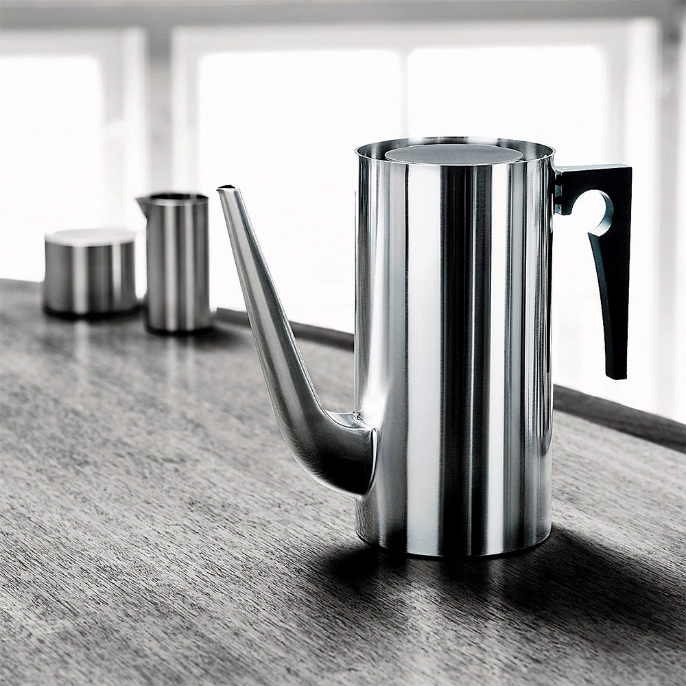 stelton cylinda coffee pot milk sugar 1000