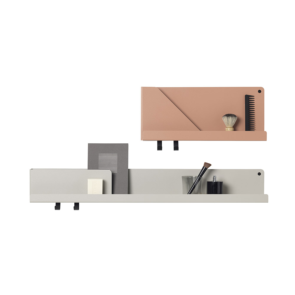 muuto folded shelf group small terracotta large grey 1000