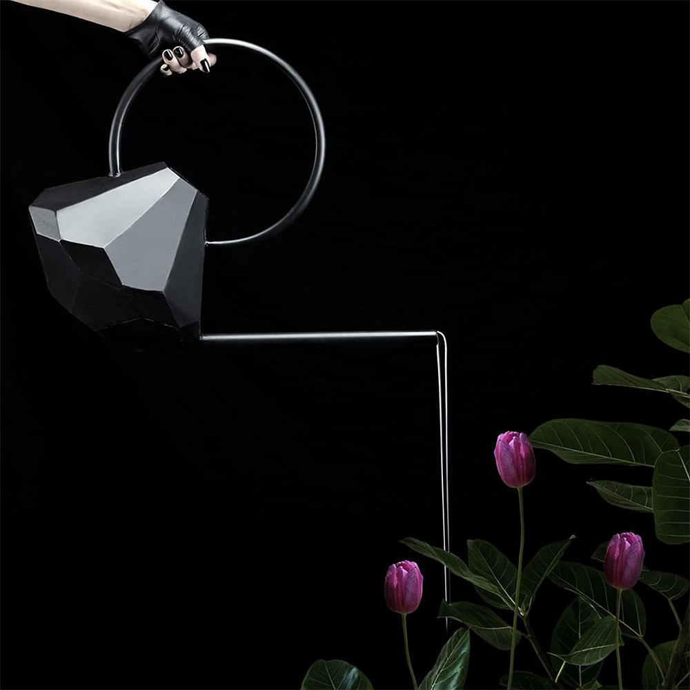 garden glory black watering can 1000