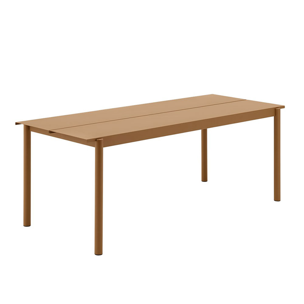 muuto linear table 200 burnt orange 1000