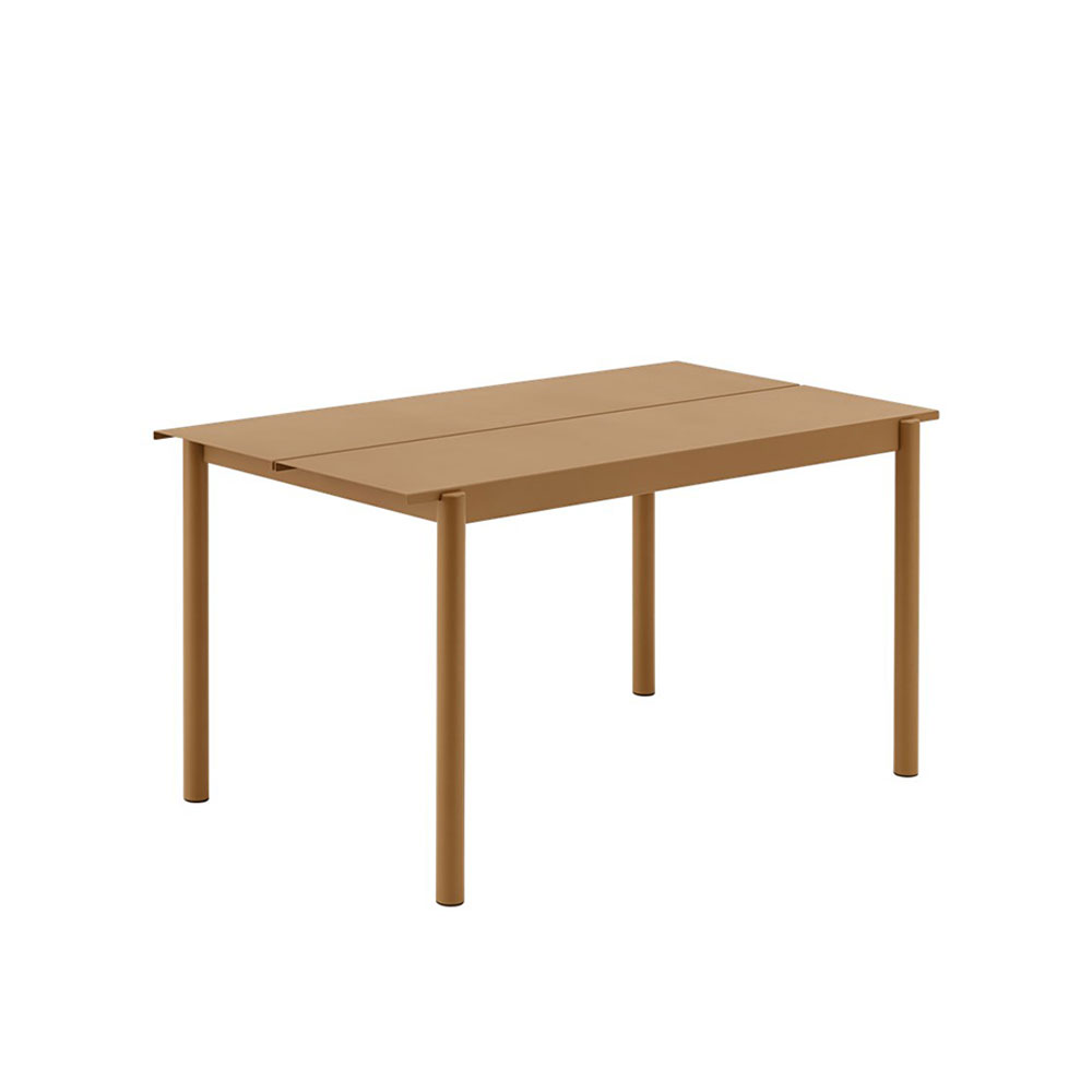 muuto linear table 140 burnt orange 1000