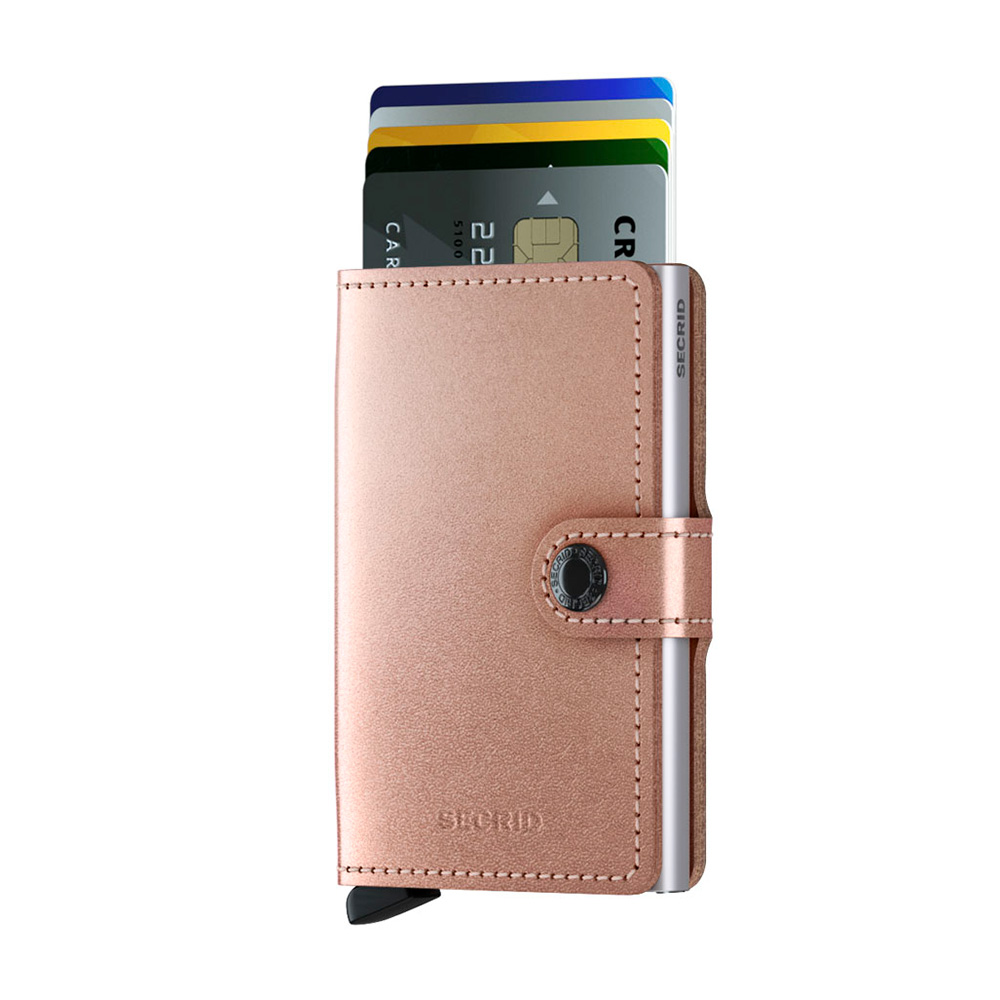 secrid miniwallet metallic rose cards 1000