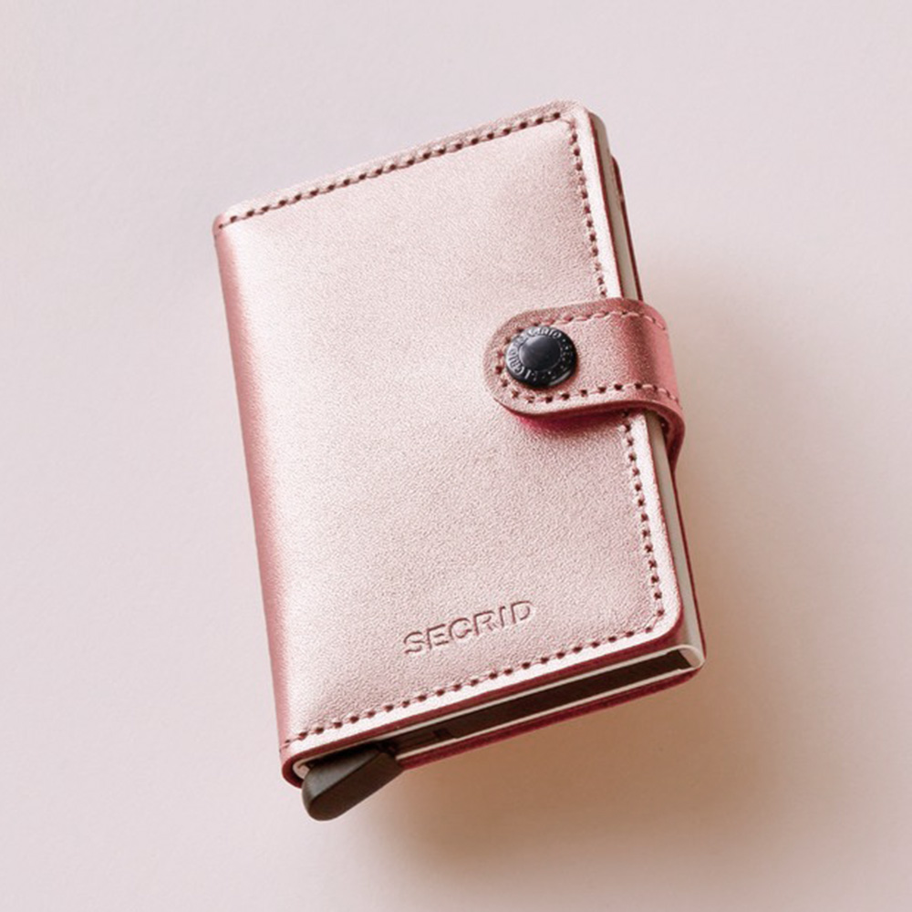 secrid miniwallet metallic rose lifestyle 1000