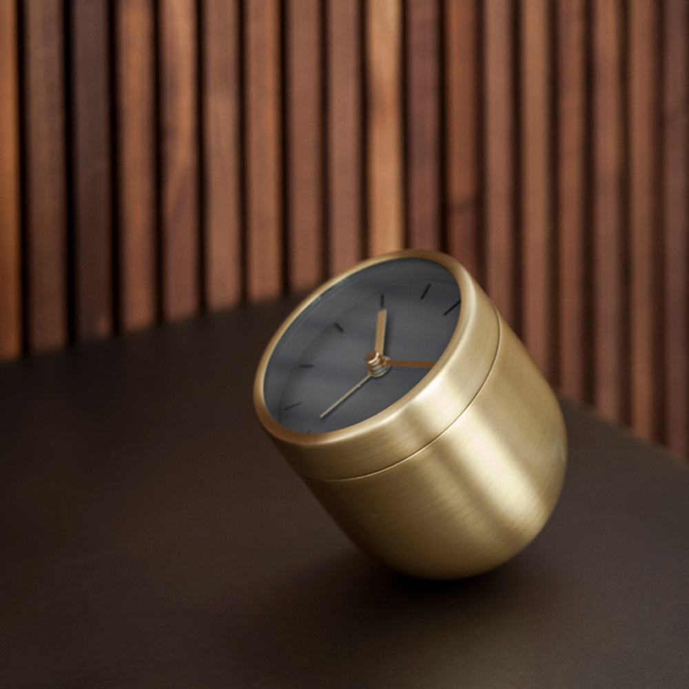menu tumbler alarm clock brass 1000