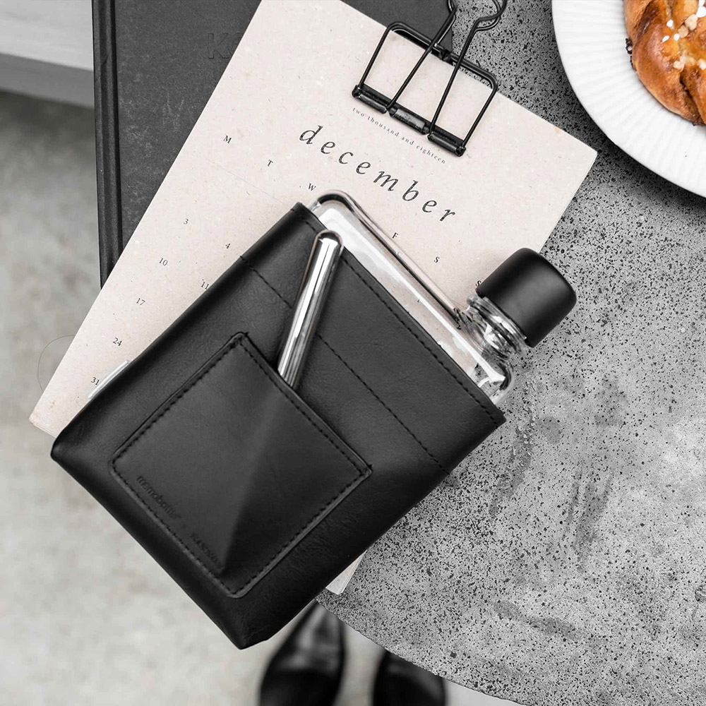memobottle a6 black leather lifestyle 1 1000