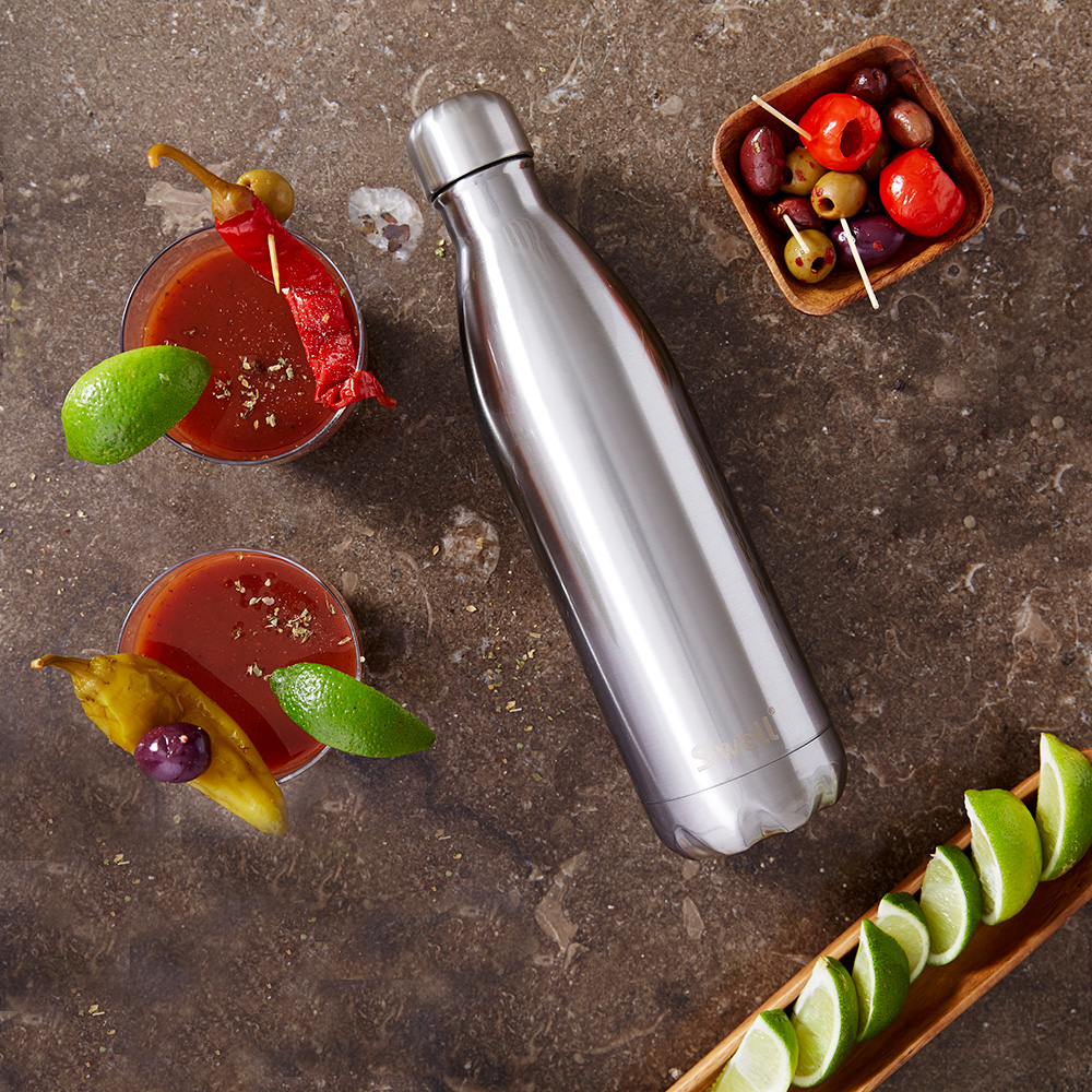 swell bottle 750ml silver lining 1000