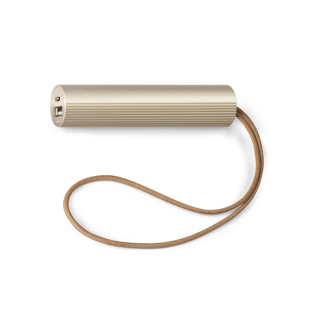 lexon fine tube power bank light gold 1000