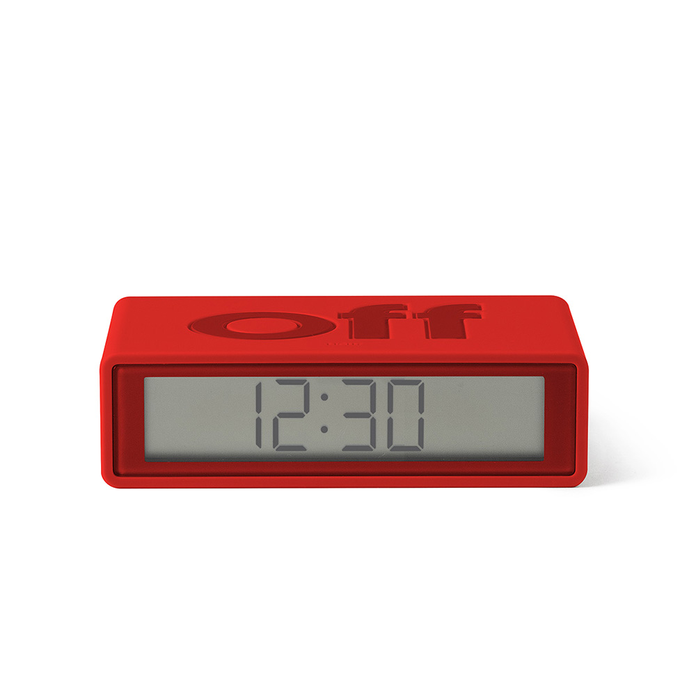 lexon flip travel alarm clock red front 02 1000