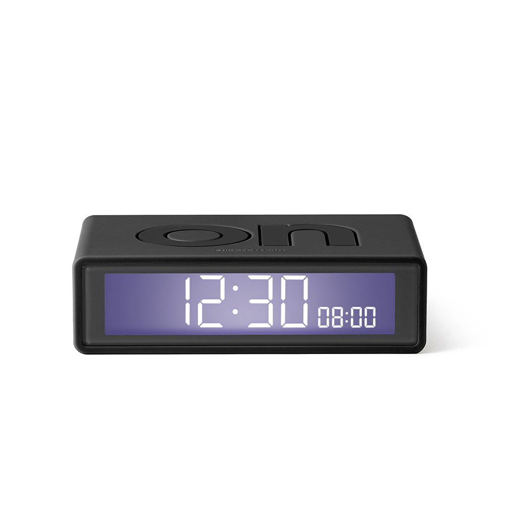 lexon flip travel alarm clock grey front 01 1000
