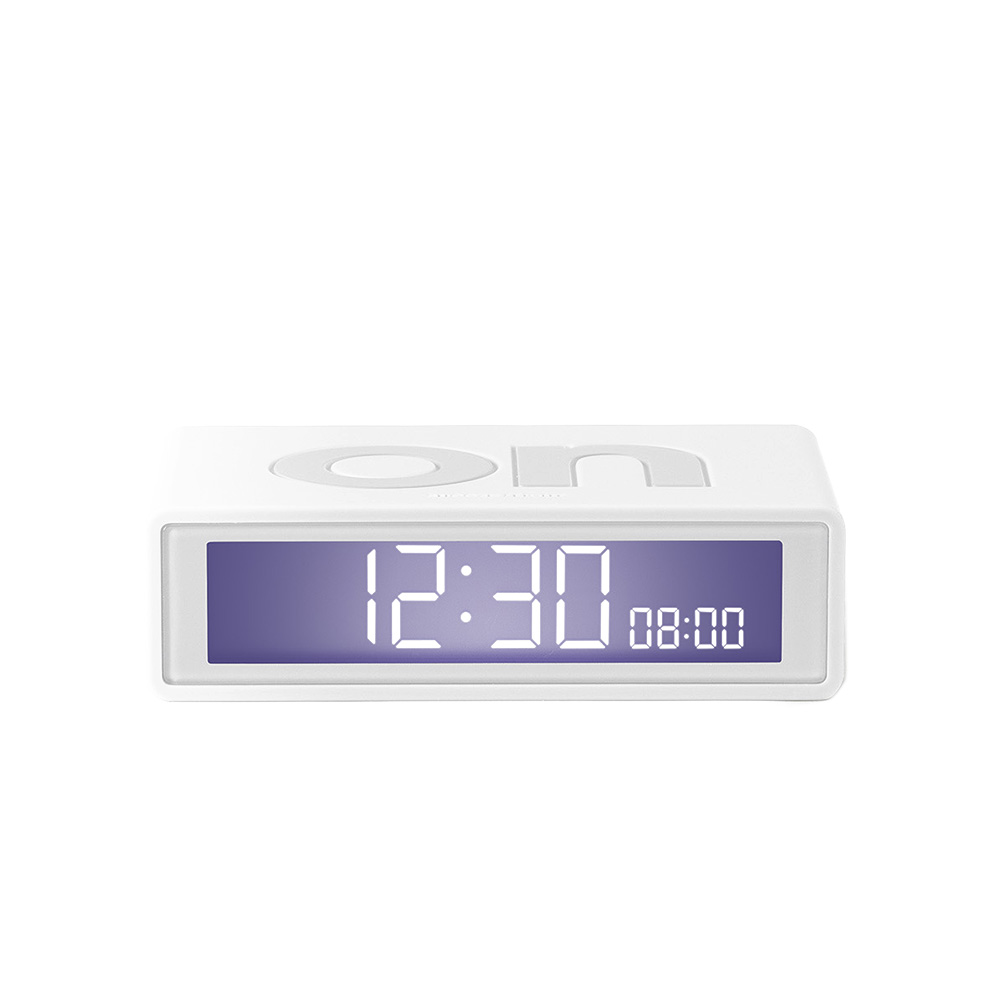 lexon flip travel alarm clock white front 01 1000