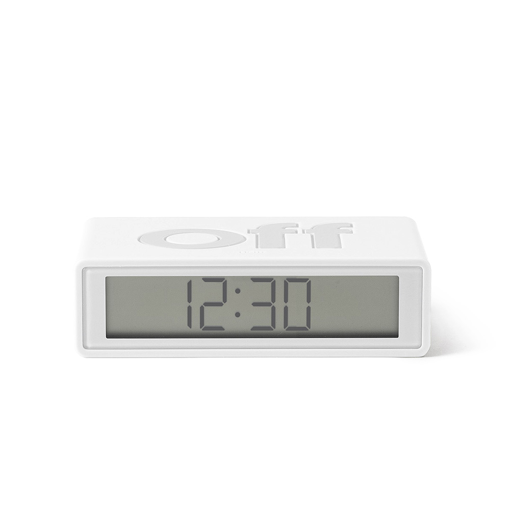 lexon flip travel alarm clock white front 02 1000