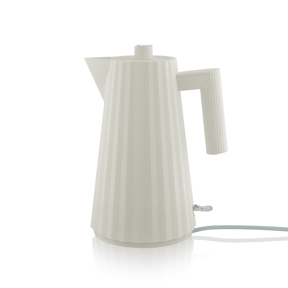 alessi plisse electric kettle white 1000
