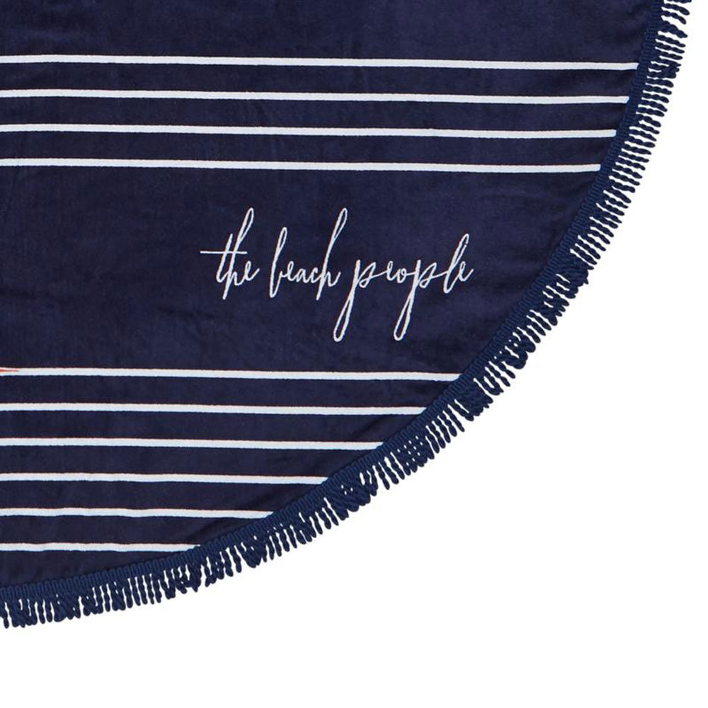 the beach people starboard round towel detail 1000