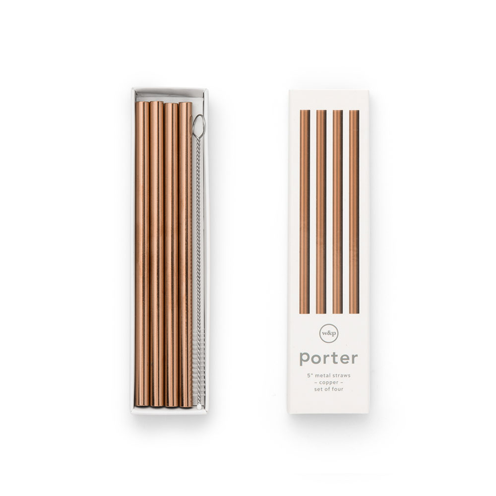 porter straws 5 inch copper packaging 1000