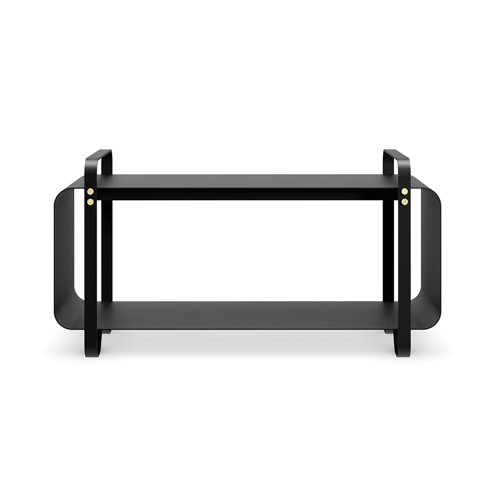 eldvarm bench ninne noir black front shadow 1000
