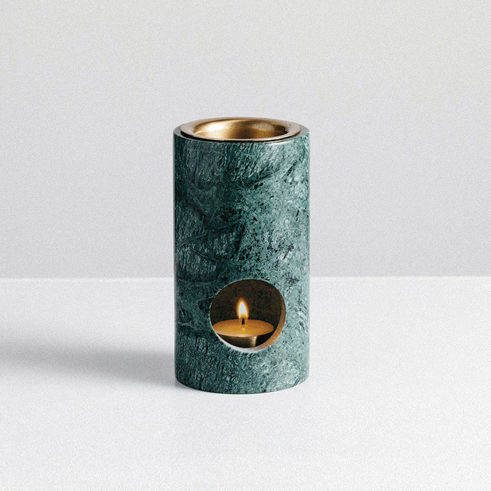addition studio synergy oil burner green marble main 1000