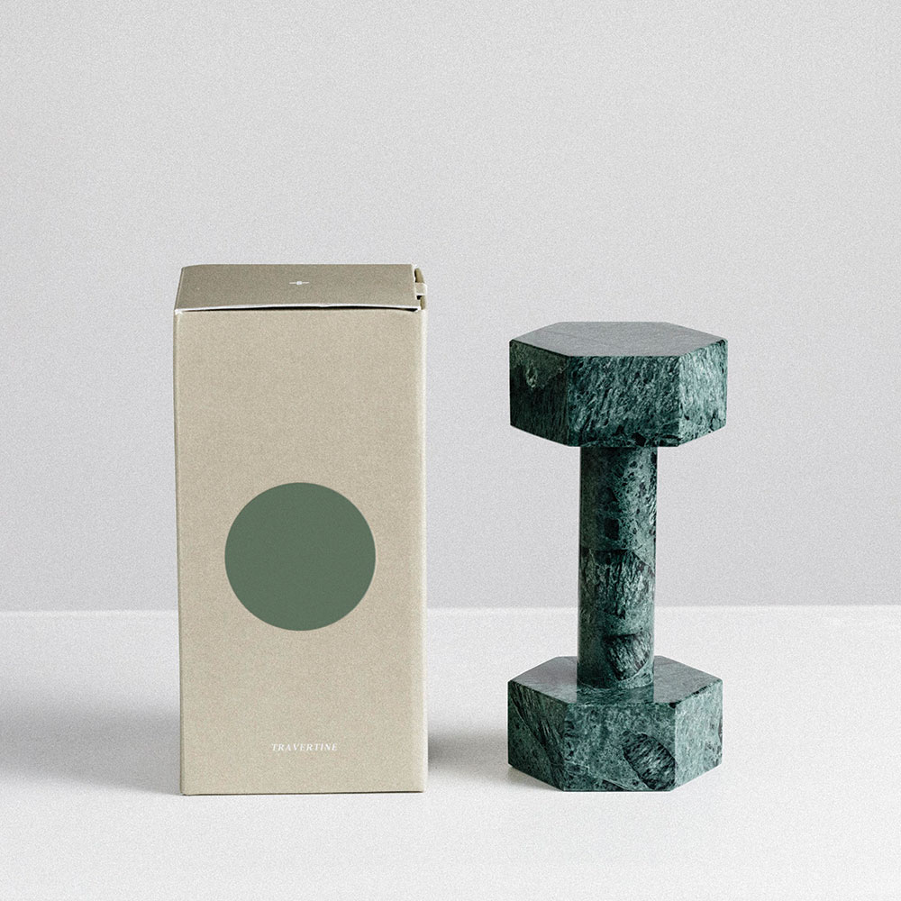 addition studio dumbbell green marble packaging 1000