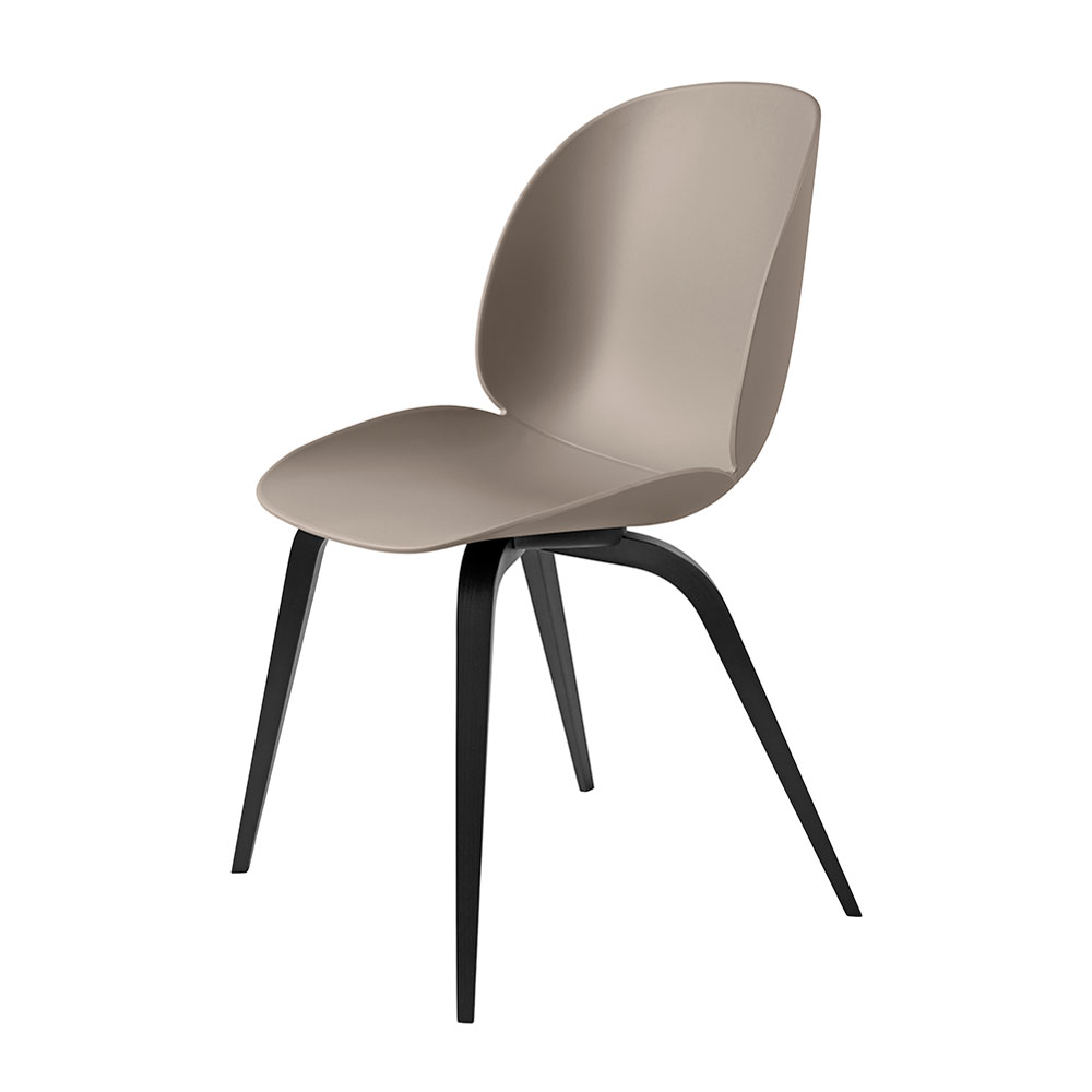 gubi beetle dining chair conic wood unupholstered black beech new beige main 1000
