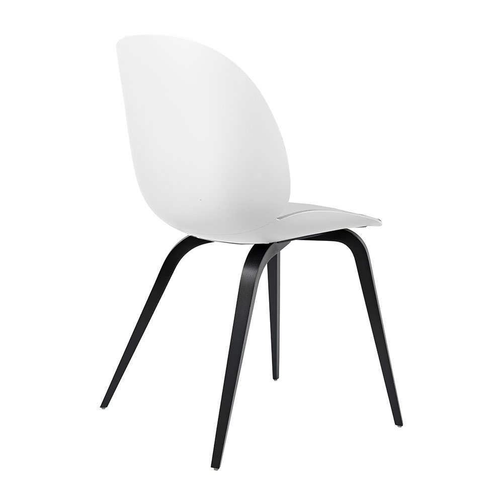 gubi beetle dining chair conic wood unupholstered black beech pure white back 1000