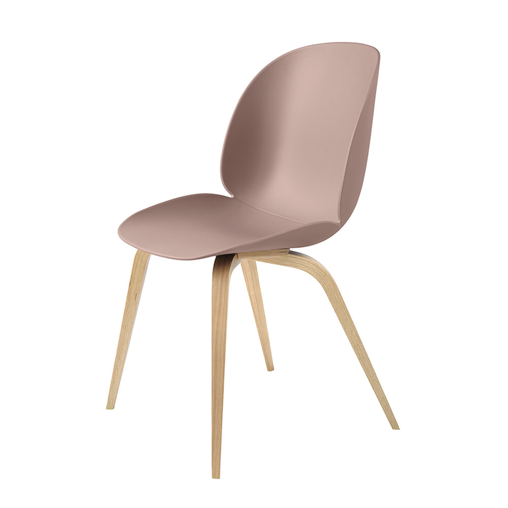 gubi beetle dining chair conic wood unupholstered oak sweet pink main 1000