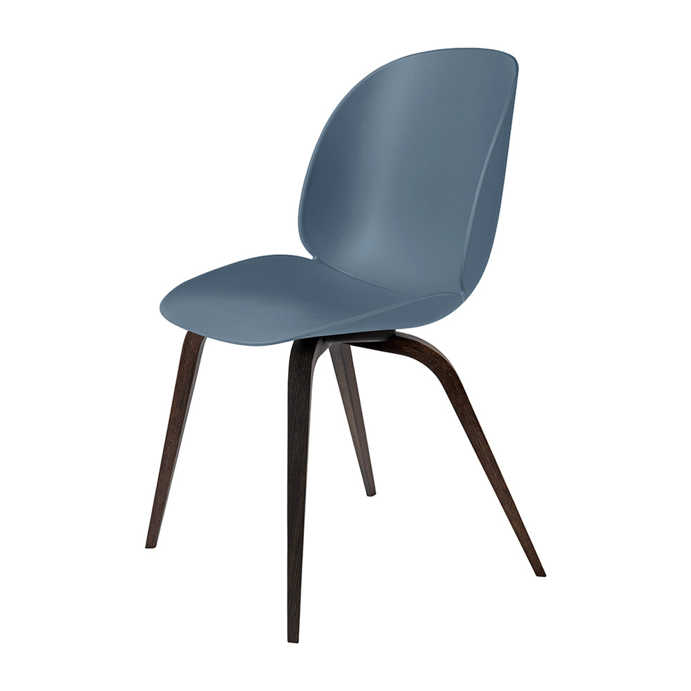 gubi beetle dining chair conic wood unupholstered smoked oak smoke blue main 1000