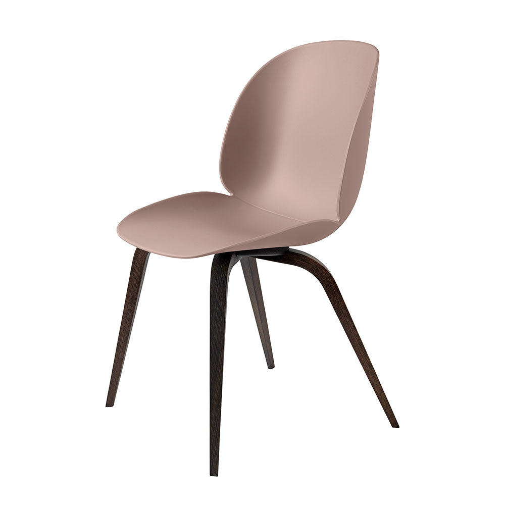 gubi beetle dining chair conic wood unupholstered smoked oak sweet pink main 1000