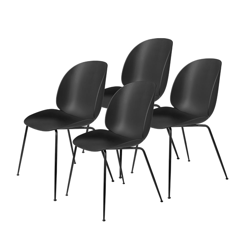 gubi beetle dining chair conic black unupholstered black group 1000