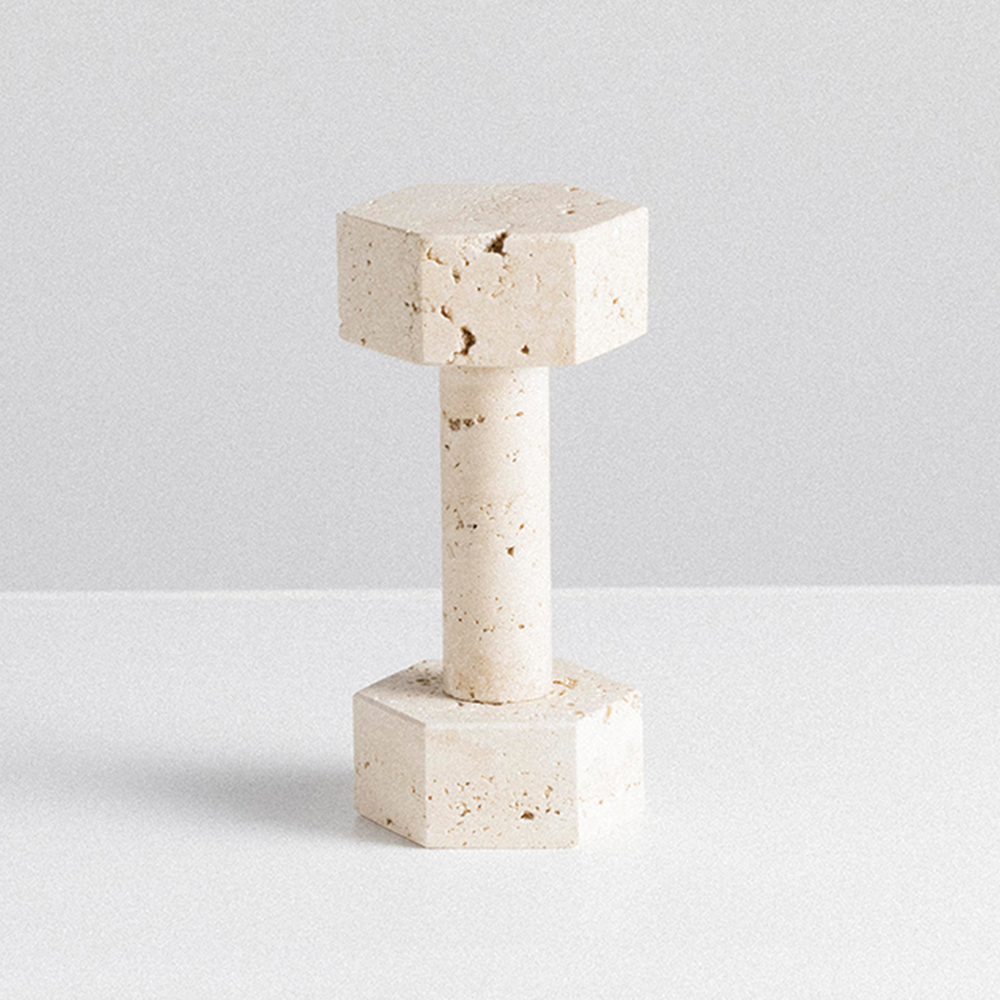 addition studio dumbbell travertine main 1000