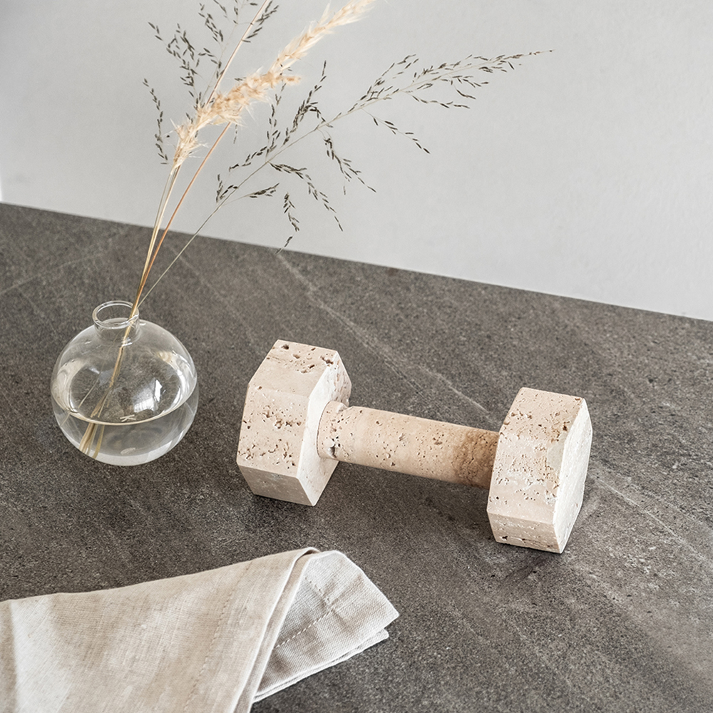 addition studio dumbbell travertine lifestyle 1000