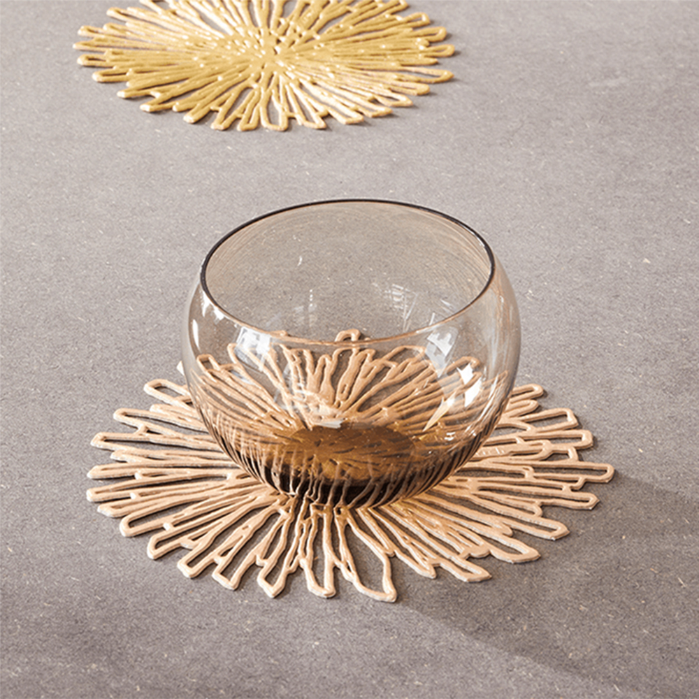 chilewich bloom coaster pink champagne editorial 1000jpg