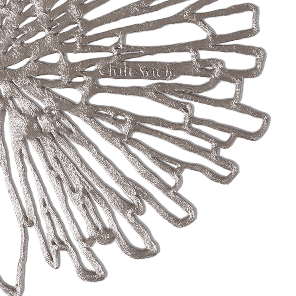 chilewich bloom coaster gunmetal detail 1000jpg