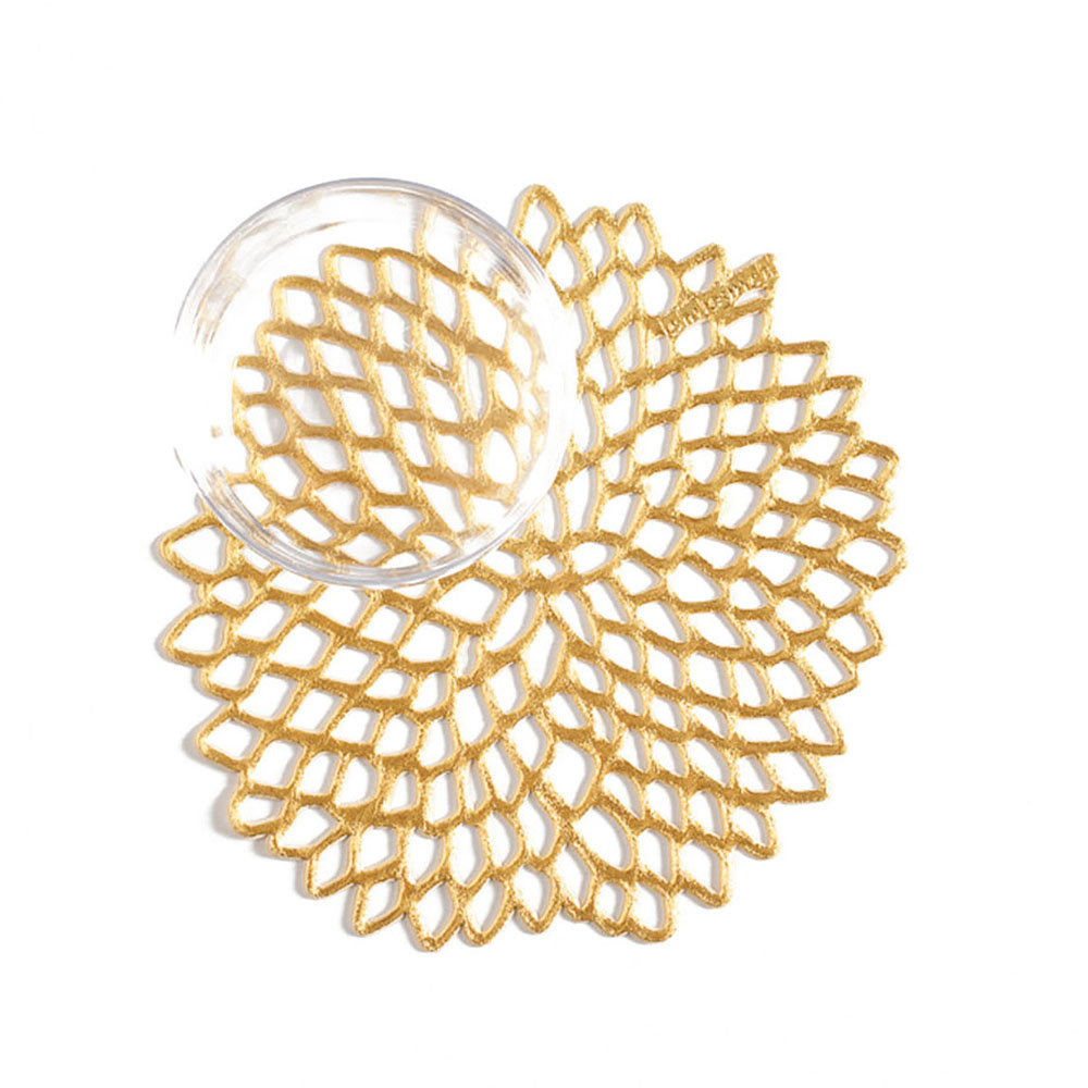 chilewich table dahlia gold 800